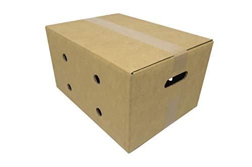 Cajeando | Pack de 5 Cajas de Cartón Almacenaje con Asas | Tamaño 39 x 29 x 21 cm | Color Marrón y Canal Doble | Mudanzas, Frutas y Hortalizas, Envíos | Muy Resistentes | Fabricadas en España