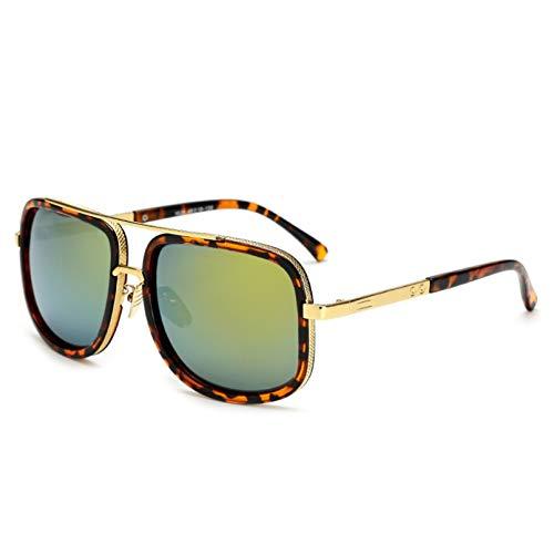 SHEANAON Gafas de Sol de Gran tamaño para Hombre Gafas de Sol para Mujer Gafas de Espejo cuadradas UV400