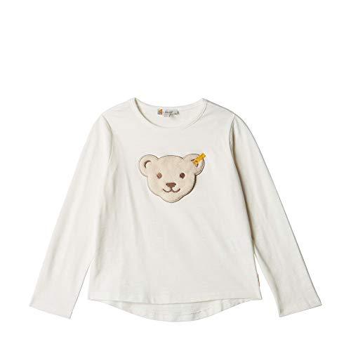 Steiff Baby - Mädchen Langarmshirt , Weiß (CLOUD DANCER 1001) , 86 (Herstellergröße:86)