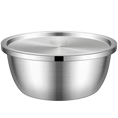 Stainless Steel Mixing Bowls,Drain Basin,Wash Basin,Salad Bowl,Mixing Bowls With Lids Set,Easy To Clean,Nesting Bowls For Space Saving Storage,Great For Cooking,Baking (Color : C, Size : 28cm)