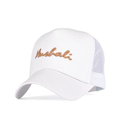 BOIPEEI Sombrero Bordado de Moda Alfabeto inglés Hombres Mujeres Gorras de béisbol Sombreros de Malla para el Sol Hombres Algodón Hip Hop Gorra de Camionero