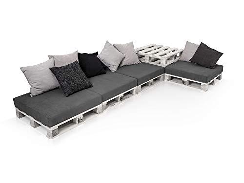 PALETTI Palettensofa Sofalandschaft II Sofa Couch Lounge Gartenmöbel Fichte Weiss, Fichte Weiss