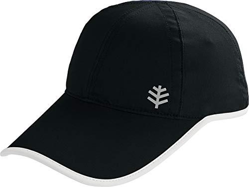 Coolibar UPF 50+ Kids' Lenny Sport Cap - Sun Protective (Large/X-Large- Black/White)
