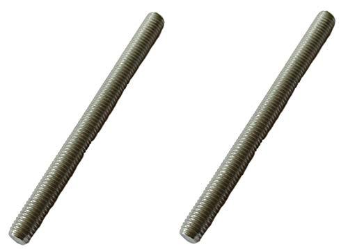 2x M8 x 100mm Gewindestab/Gewindestange V4A –– Gewindestift Aussen Gewinde - Rostfreier Stahl - Edelstahl Industrie