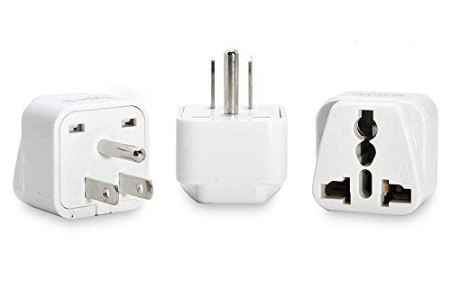 Ceptics USA, Canada Universal Travel Plug Adapter (Type B) -Convert Europe, UK, India, Australia to...