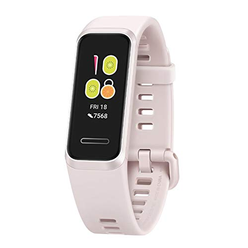 Huawei Band 4 Smart Band Armband 2,4 cm Fitness Activity Tracker, Pulsmesser, Blutsauerstoffsättigung Erkennung, integriertes GPS, 5 ATM wasserdicht lange Standby (Sakura Pink)
