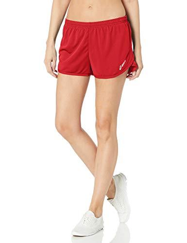 ASICS Women's Rival Ii 1/2 Split Shorts, Red, Small