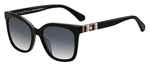 Kate Spade New York Women's Kiya Square Sunglasses, Black, 53 mm