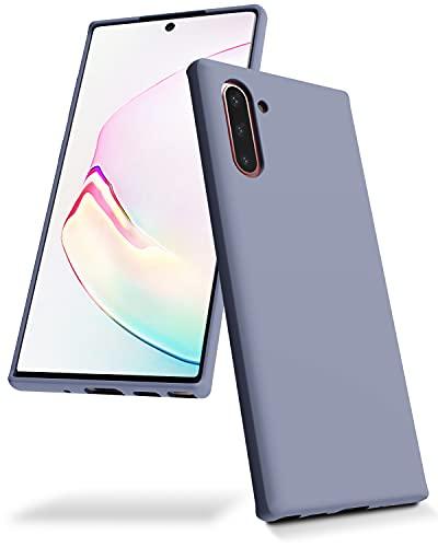 Goospery NT10-SLC-LGRY Flüssige Silikonhülle für Samsung Galaxy Note 10 (2019) Jelly Rubber Bumper Hülle mit weichem Mikrofaserfutter (Lavendelgrau)