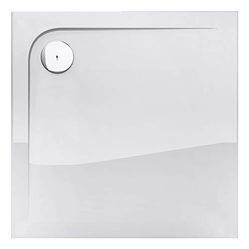Mai & Mai Plato de ducha en blanco Nova4W fabricado en acrílico superplano cuadrado dimensiones: 80x80x4cm