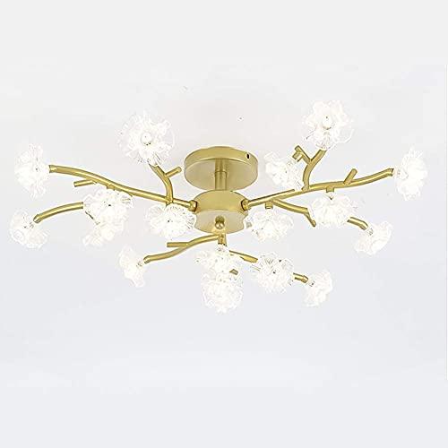 Lamp Hanglamp Kroonluchter Plafondlamp Kristal Eenvoudige Moderne Hanger Ing Armatuur Led Armatuur 10 s Hanger Ing voor Keuken Eetkamer Woonkamer, Zilver, 18 Lichten