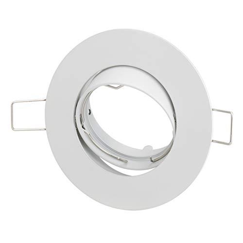 PREISHIT!!! 10-PACK Weiss Zinklegierung Einbau-Strahler Einbau-Spot Rund Schwenkbar GU10 /GU 5,3 / MR 16 Einbau-Leuchte (Weiß, 10-er Set)