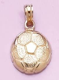 14k Yellow Gold 55% OFF Sports Charm Textured 2-D Pendant In a popularity Ball Soccer