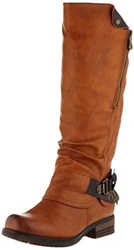 Rieker Damen Stiefel 93271, Frauen Stiefel, Lady Ladies feminin elegant Women's Women Woman Freizeit leger Boots,Cayenne,37 EU / 4 UK