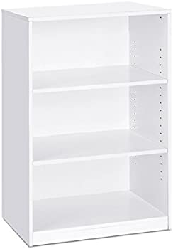 Furinno Jaya Simple Home 3-Tier Adjustable Shelf Bookcase