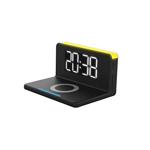 HJCWL 1 stuks slaapkamer thuis elektrische thermometer Desk tafel digitale spiegel wekker led-display accessoires Qi draadloze lader