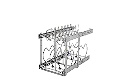 "Rev-A-Shelf 5CW2-1222SC 5CW2 Series 11.75"" Wide Two Tier Pull Out Cookware Organ, Chrome"