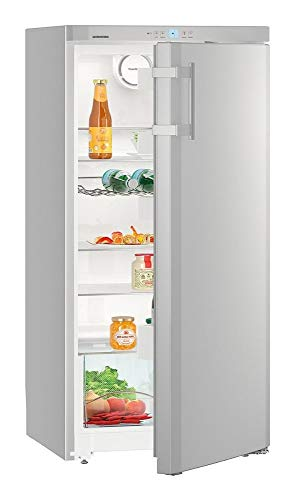 Amica Kühl-Gefrierkombination Edelstahloptik 139L A+++ 148cm hoch automat. Abtauen KGC 384 110 E Kühlschrank mit Gefrierfach