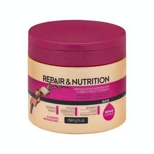 Mascarilla Repair & Nutrition Deliplus cabello seco y dañado con 8 agentes reparadores