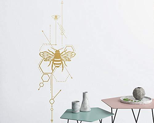 Santangtang geometrische honingraat- en anatomische bijenwanddecoratie unieke vinylwanddecoratie goudwanddecoratie vriendgeschenk
