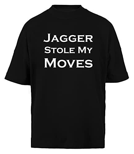 Jagger Stole My Moves Unisex Herr Kvinnors Baggy T-shirt Svart Ekologisk Bomull Baggy Mens Womens Black