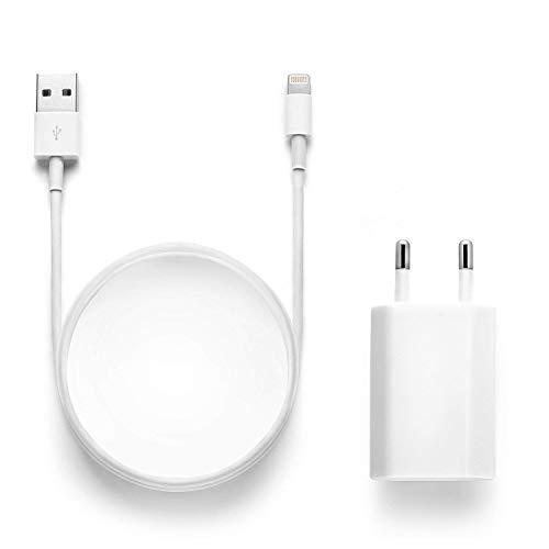 Chargeurs Secteur with Câble, Adaptateur USB Universel Mural & Chargeur Phone pour iPhone XS,XR,XS Max,X,8,8 Plus,7,7 Plus 6s Plus 5s 1M