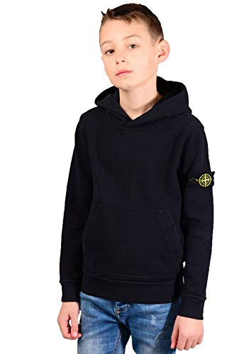 Stone Island junior 61741 Hoodie in Black
