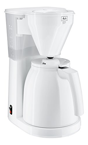 Melitta Easy Therm 1010-05, Filterkaffeemaschine mit Thermkanne, Kompaktes Design, Weiß