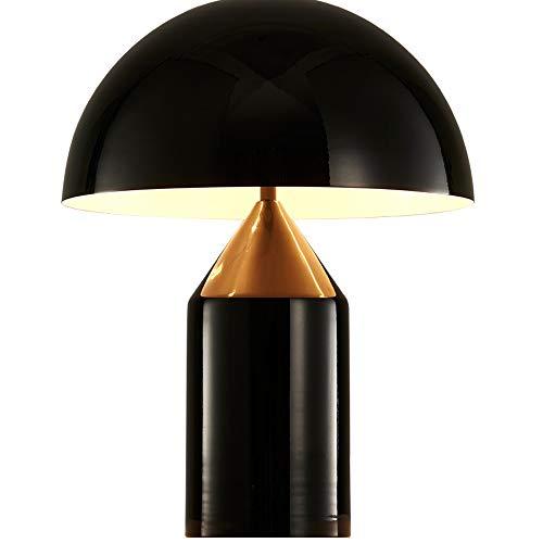 Schreibtischlampe Retro Pilz Tischlampe 1x E27 max. 40W Schreibtischleuchte Leselampe Tischleuchte Metall Lampenschirm für Leser Schlafzimmer Arbeitszimmer Büro 25 cm x 35 cm Schwarz