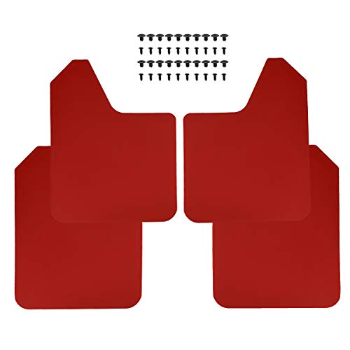 XUKEY Red Racing Sport Universal Mud Flaps for Car Pickup SUV Van Truck Mudflaps Splash Guards Mudguards Dirty Traps Fender Flares
