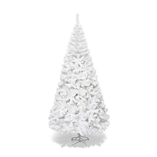 Dancal Albero di Natale Bianco, 5ft / 6ft / 7ft Albero di Natale Artificiale Albero di Natale con Punte in Metallo Solido Consigli, Decorazioni Tradizionali Indoor
