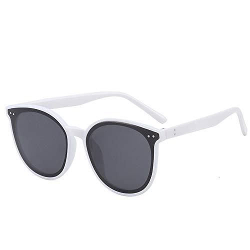YTYASO Gafas de Sol de Ojo de Gato con Montura Redonda a la Moda para Hombres y Mujeres, Gafas de Sol de Ojo de Gato UV400, Gafas de Sol con Espejo Gris Bule