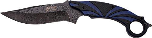 MTech USA Xtreme Couteau d'extérieur Noir et Bleu G10 poignée Exécution, mtec de 1053