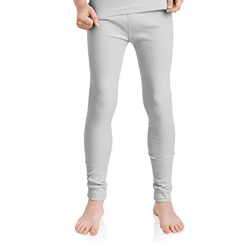 MT Kinder Ski- & Thermohose - warme Unterwäsche lang mit Innenfleece - Sports Grey 146-152