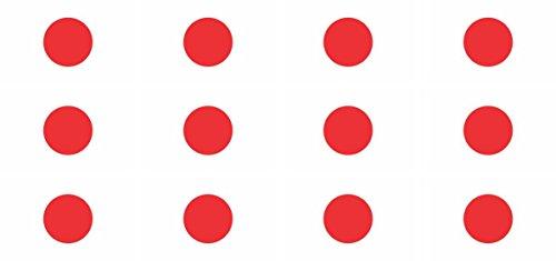 Mini Aufkleber Set - Pack glatt - 50x31mm - Sticker - Japan - Flagge - Banner - Standarte fürs Auto, Büro, zu Hause & die Schule - 12 Stück
