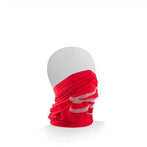 COMPRESSPORT 3D Thermo Ultralight - Bandana Unisex, Unisex - Adulto, Foulard, CS43DHTUBE3150, Colore: Rosso, Taglia Unica