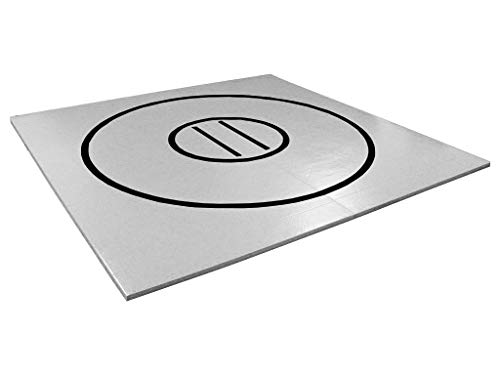 AK Athletics 8' x 8' Roll-Up Home Use Wrestling Mat Gray