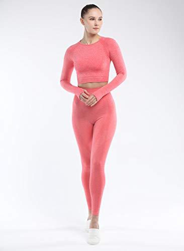 Naadloos met lange mouwen kleur Female Yoga Kleding Sport Ondergoed Yoga Pants,H,M