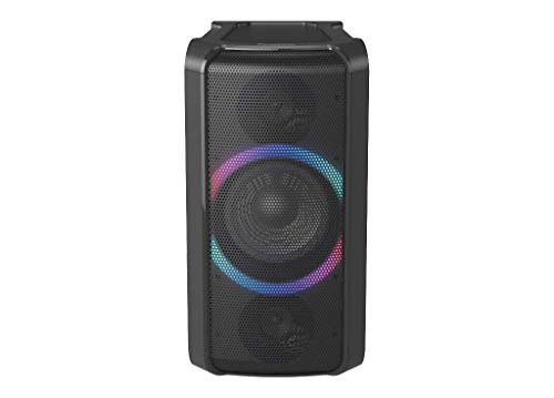 Panasonic SC-TMAX5 Party Lautsprecher mit Bluetooth (Wireless Charging, Lichteffekte, Powerbankbetrieb, 150W) schwarz