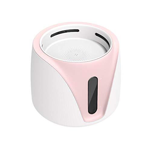 Alimentador dkee Rosa dispensador automático de agua 2L for perros y gatos mascota inteligente fuente de agua fuente cuenca filtro de circulación agua viva gran capacidad ABS nivel de agua visible pro