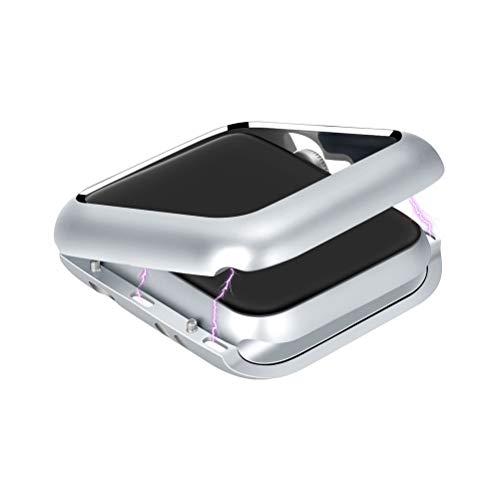 UKCOCO Cover Apple Watch, Ultra Sottile Leggero Custodia adsorbimento Magnetico Protettiva paraurti con Telaio in Metallo Proteggi Schermo Case per Apple iWatch Series 1/2/3 (42mm Argento)