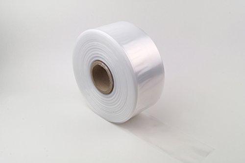 LDPE Schlauchfolie 80mm breit, 50my stark, transparent und scannerlesbar, lebensmittelechte Beutelfolie auf Rolle 500m Lauflänge