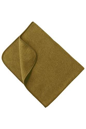 Babydecke Fleece, Engel Natur, 100% Schurwolle, 3 Farben (80X100, Safran melange)