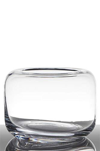 INNA-Glas Bombonera de Vidrio EIKE, cilíndrica - Redonda, Transparente, 15cm, Ø 20,5cm...