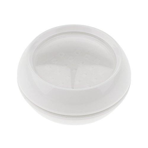 dailymall 30 / 50g Pots Cosmétiques Vide en Plastique, Contenants pour Baumes Crème Maquillage Poudre - blanc, 30g