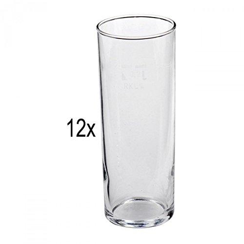 Van Well - Bicchieri da birra, di alta qualità, 12 pezzi, con taratura 0,2 litri