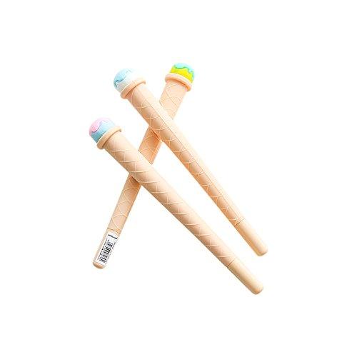 Jia HU 6Kugelschreiber Schwarz Tinte Gel Pen Eis Stifte Set für Bernstein Geschenk