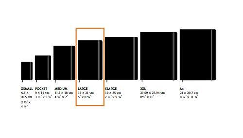 Moleskine - Edición Limitada Alicia en el País de la Maravillas, Diseño Estamos Locos, Agenda Diaria 2021 de 12 Meses, Tapa Dura, Tamaño Grande de 13 x 21 cm, 400 Páginas