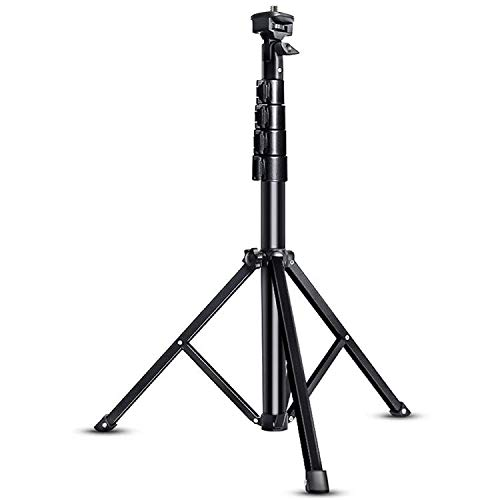Selfie Tripod Stand, 60-inch Extendable Tripod Stand for iPhone & Android Phone Tripod Stand, Heavy Duty Aluminum, Lightweight