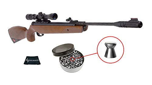 Ruger Yukon Magnum Combo .177 Caliber Air Rifle with Included 3-9X32 Scope and Pack of 500 Pellets Bundle (Pellets Caliber/Weight .177/7.48 Grains) and Wearable4U Cloth